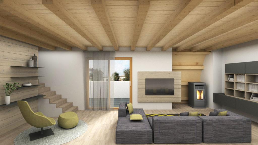 Rendering-attico-soggiorno-design-iStyle
