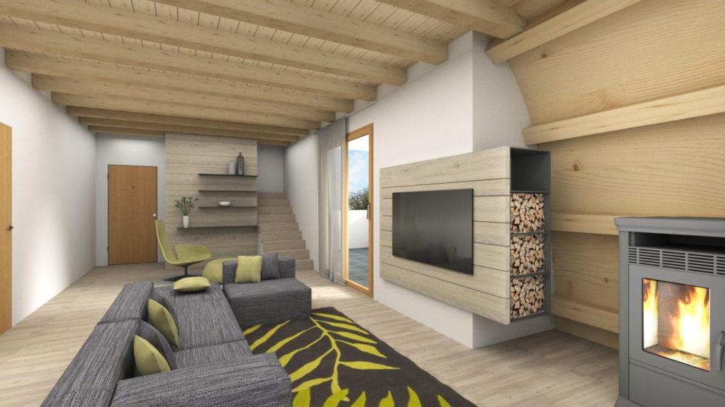 Rendering-attico-soggiorno-legnaia-design-iStyle