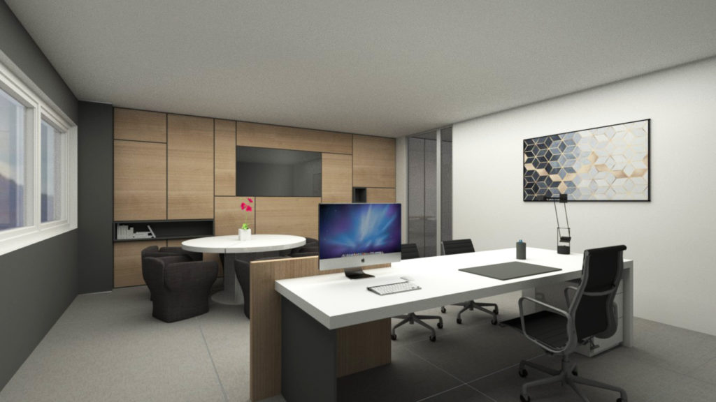 Rendering-ufficio-legno-design-iStyle